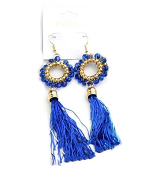 Royal Blue Luna Earrings - MY SEXY STYLES