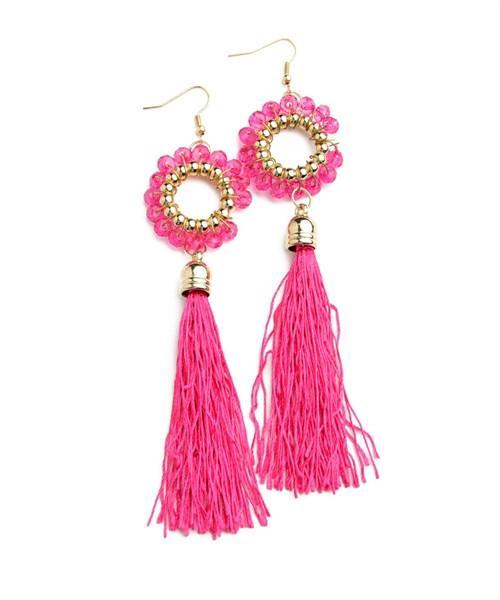 Hot Pink Luna Earrings