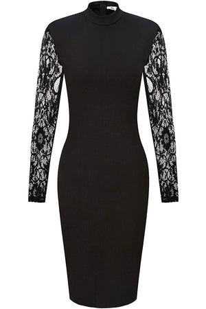 Maryam Sexy Bodycon Lace Long Sleeves Lace Cocktail Party Dress