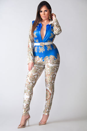 Monroe Long Sleeves Bodysuit and High Waisted Stretchy Pants Set