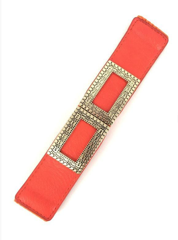 Orange Wide Stretch Vintage Trim Belt - MY SEXY STYLES  - 1