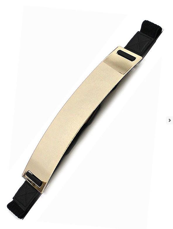 Black Stretch Gold Plated Belt - MY SEXY STYLES