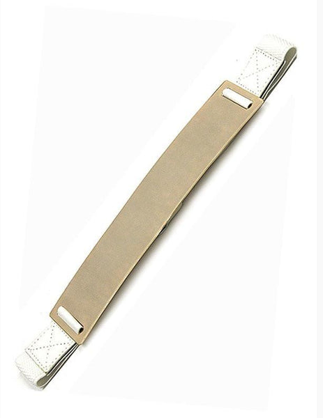 White Stretch Gold Plated Belt - MY SEXY STYLES