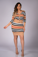 Ninette Stripe Two Piece Set