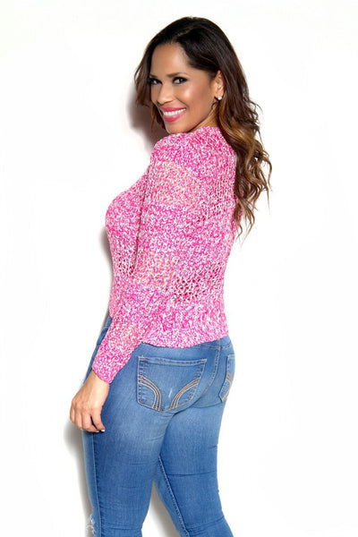 Pink Knit Sweater Top - MY SEXY STYLES  - 2