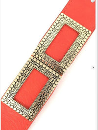 Orange Wide Stretch Vintage Trim Belt - MY SEXY STYLES