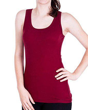 Seamless Ribbed Racerback Sports Tank Top Blouse Yoga Activewear Cami
