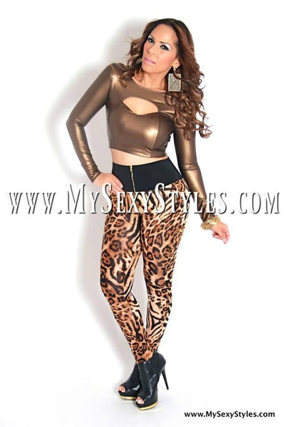 Sexy High Waisted Leopard Print Leggings - MY SEXY STYLES
