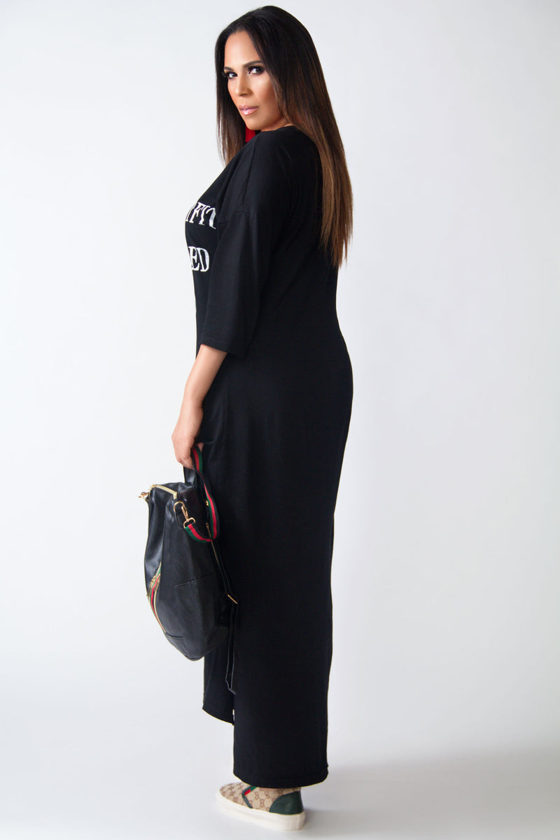 Today's Outfit Casual Maxi Shirt Dress