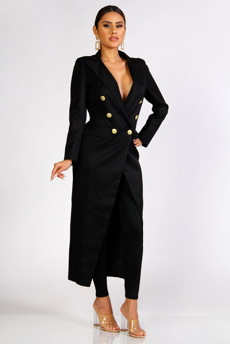 Trinity Long Sleeves Blazer Maxi Dress