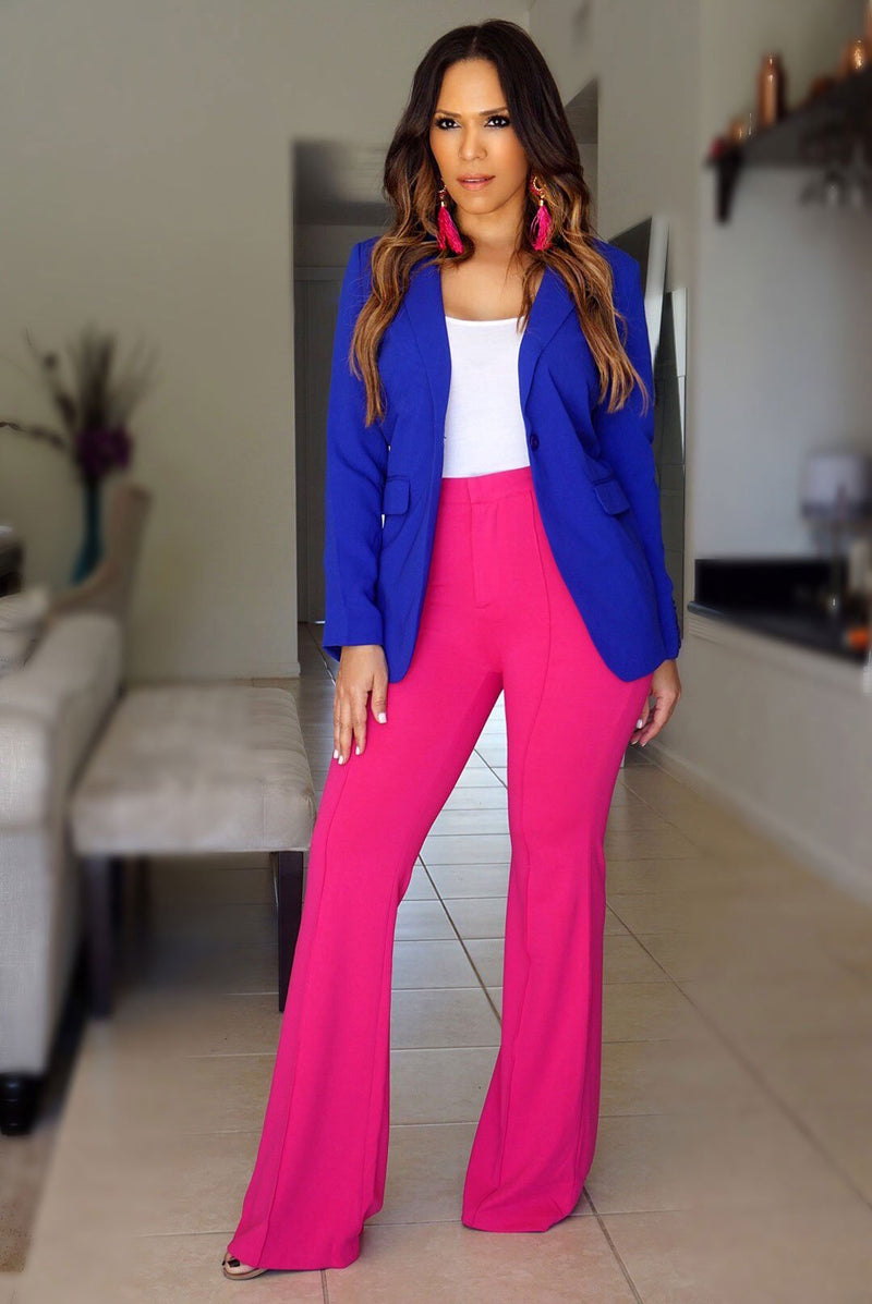 Violet Royal Blue Blazer Jacket