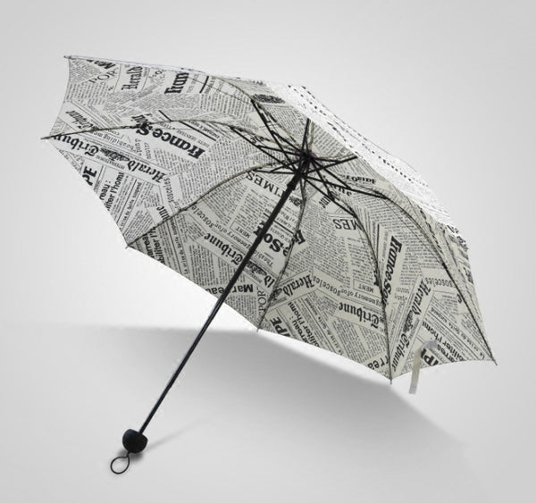 Newspaper Print Umbrella