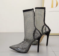 Cristalina Embellished Ankle Booties