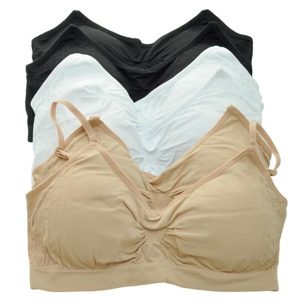 Women's Basic Wireless Seamless Removable Padded Bra Bralette