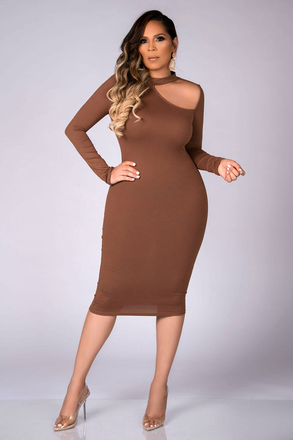Ziggy Partial Open Side Body-con Dress