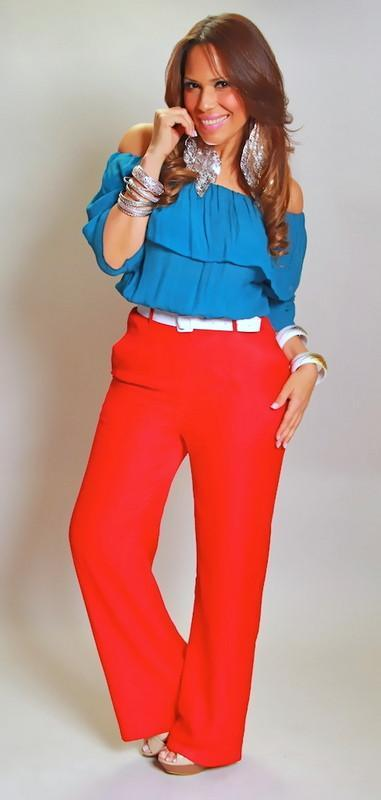 Solid High Waisted Wide Leg Pants In Red - MY SEXY STYLES