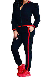 Catalina 2 Piece Long Sleeve Zipper Jacket and Pants Tracksuit
