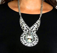 Luxury White Big Rhinestone Crystal Collar Statement Necklace - MY SEXY STYLES