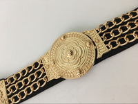 Floral Golden Chain Metal Belt