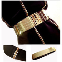 Gold Metal Fish Skin Fashion Belt