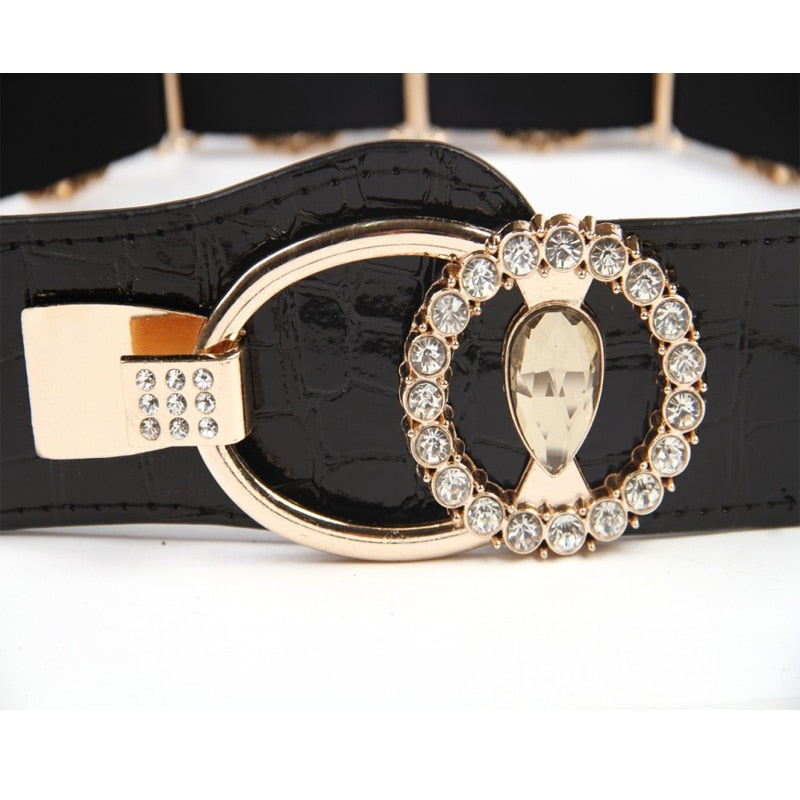 Women's Rhinestone Fashion Elastic Belt