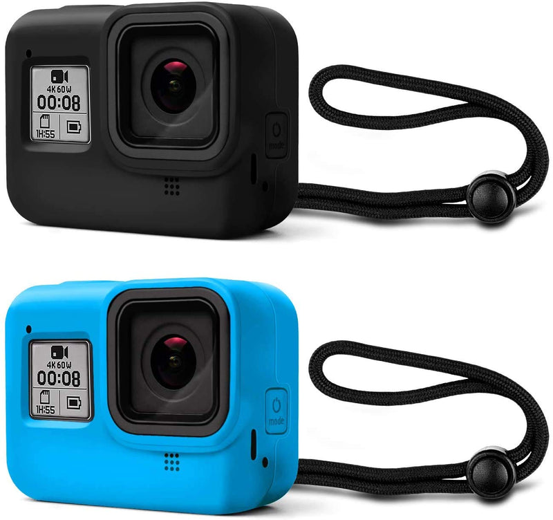 GoPro Hero 8 Protective Silicone Sleeve Cover Shell Body Case with Lanyard New