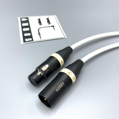 SORRY Microphone Cable - Standard White