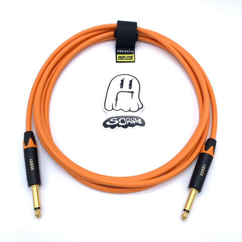 SORRY Straight to Straight Guitar / Instrument Cable - Standard Orange