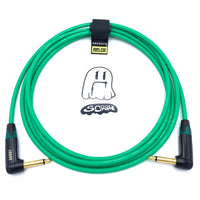 SORRY Right Angle to Right Angle Guitar / Instrument Cable - Standard Green