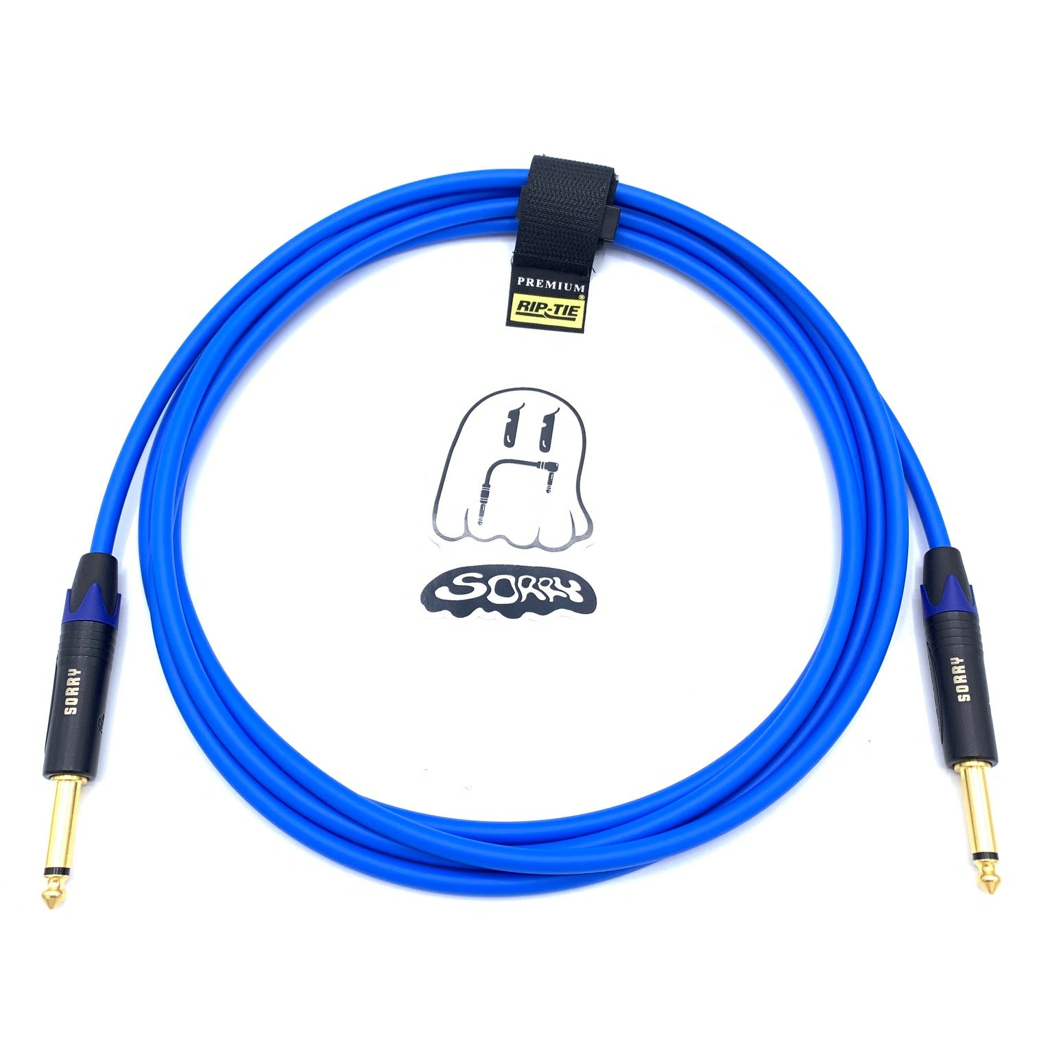 SORRY Straight to Straight Guitar / Instrument Cable - Standard Blue