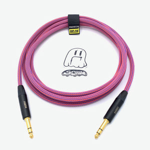 "SORRY 1/4"" TRS to 1/4"" TRS Balanced Cable - Superhero"