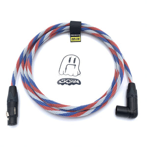 SORRY Right Angle Male to Straight Female XLR Cable - Patriot