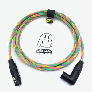 SORRY Right Angle Male to Straight Female XLR Cable - Sherbet