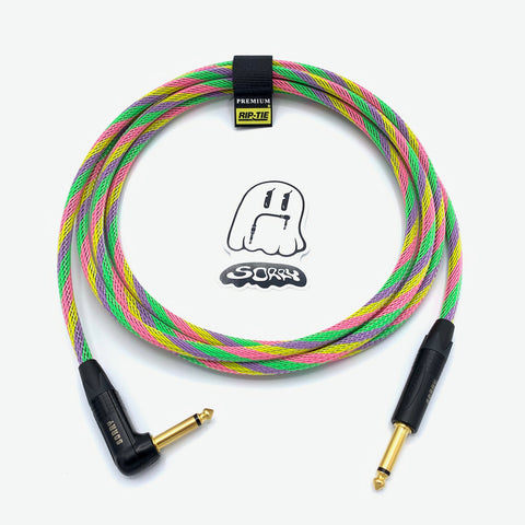 SORRY Straight to Right Angle Guitar / Instrument Cable - Sherbet