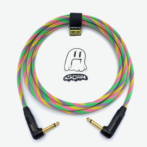 SORRY Right Angle to Right Angle Guitar / Instrument Cable - Sherbet