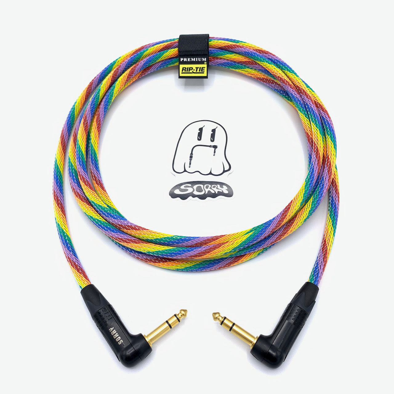 "SORRY 1/4"" Right TRS to 1/4"" Right TRS Balanced Cable - Rainbow"