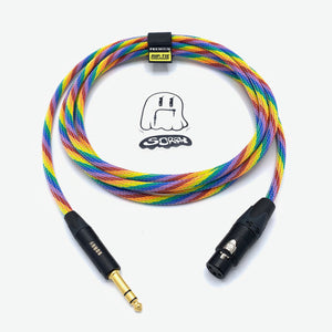 "SORRY XLR Female to 1/4"" TRS Male Cable - Rainbow"
