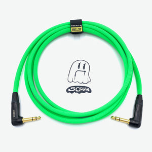 "SORRY 1/4"" Right TRS to 1/4"" Right TRS Balanced Cable - Neon Green"