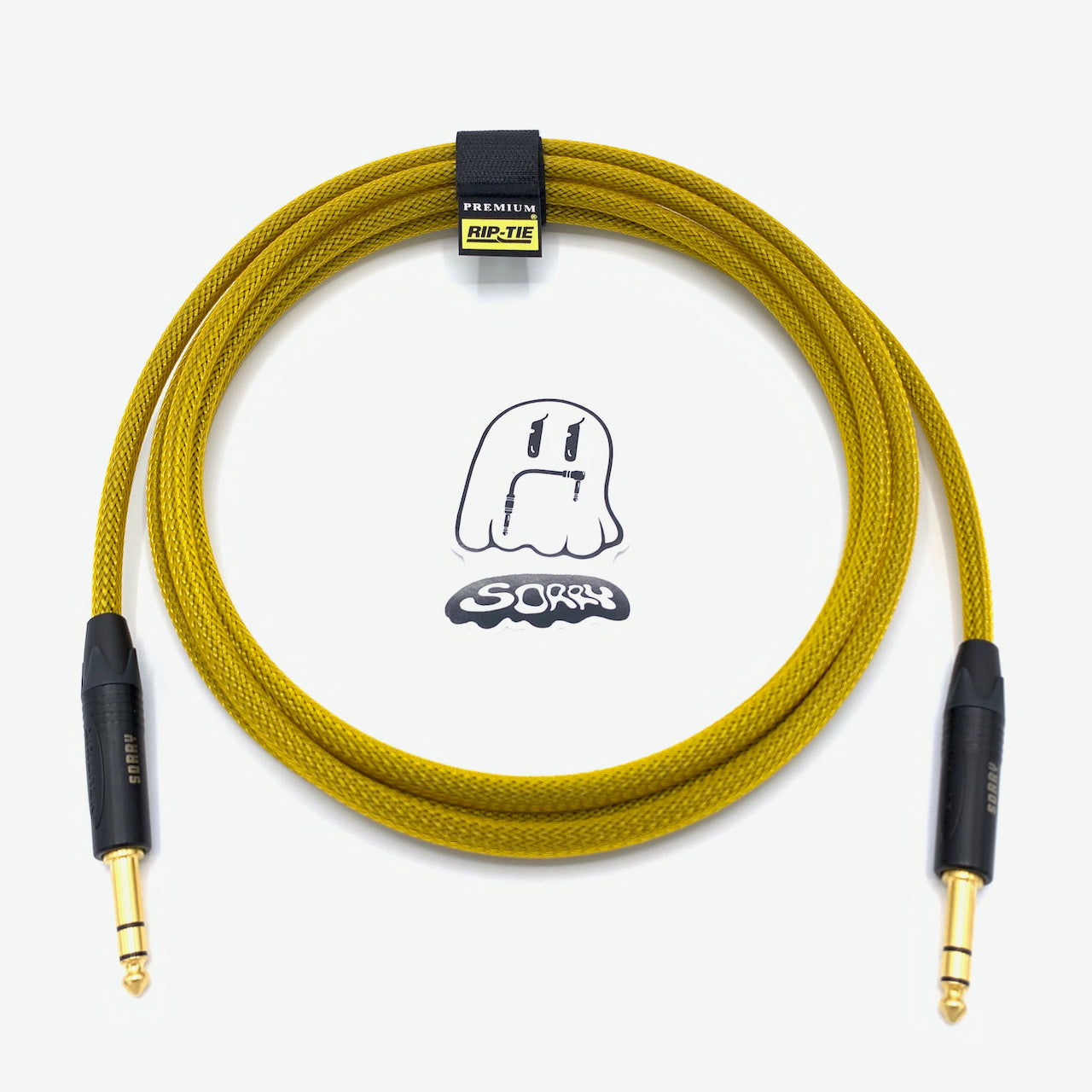 "SORRY 1/4"" TRS to 1/4"" TRS Balanced Cable - Yellow Gold"