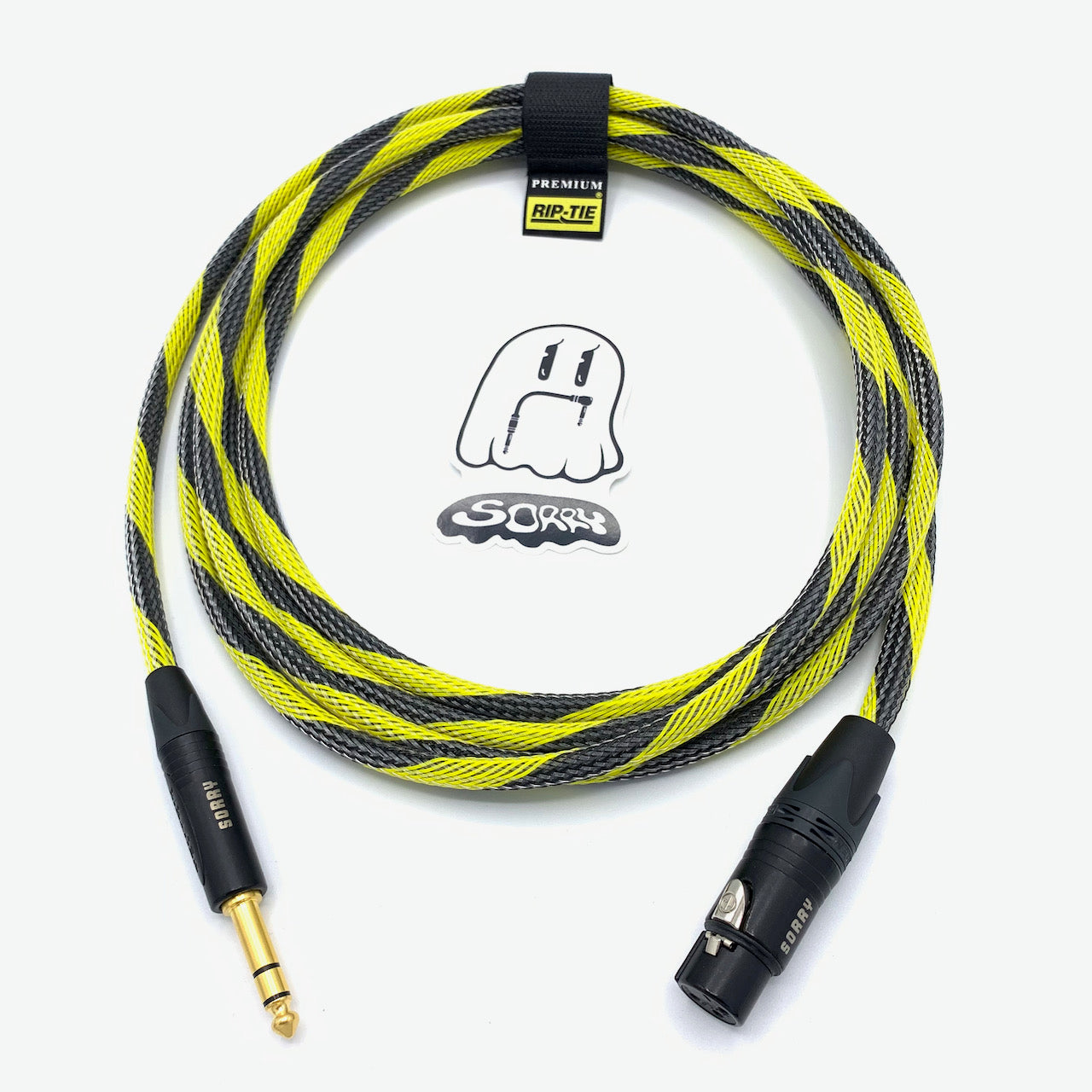 "SORRY XLR Female to 1/4"" TRS Male Cable - Bumble Bee"