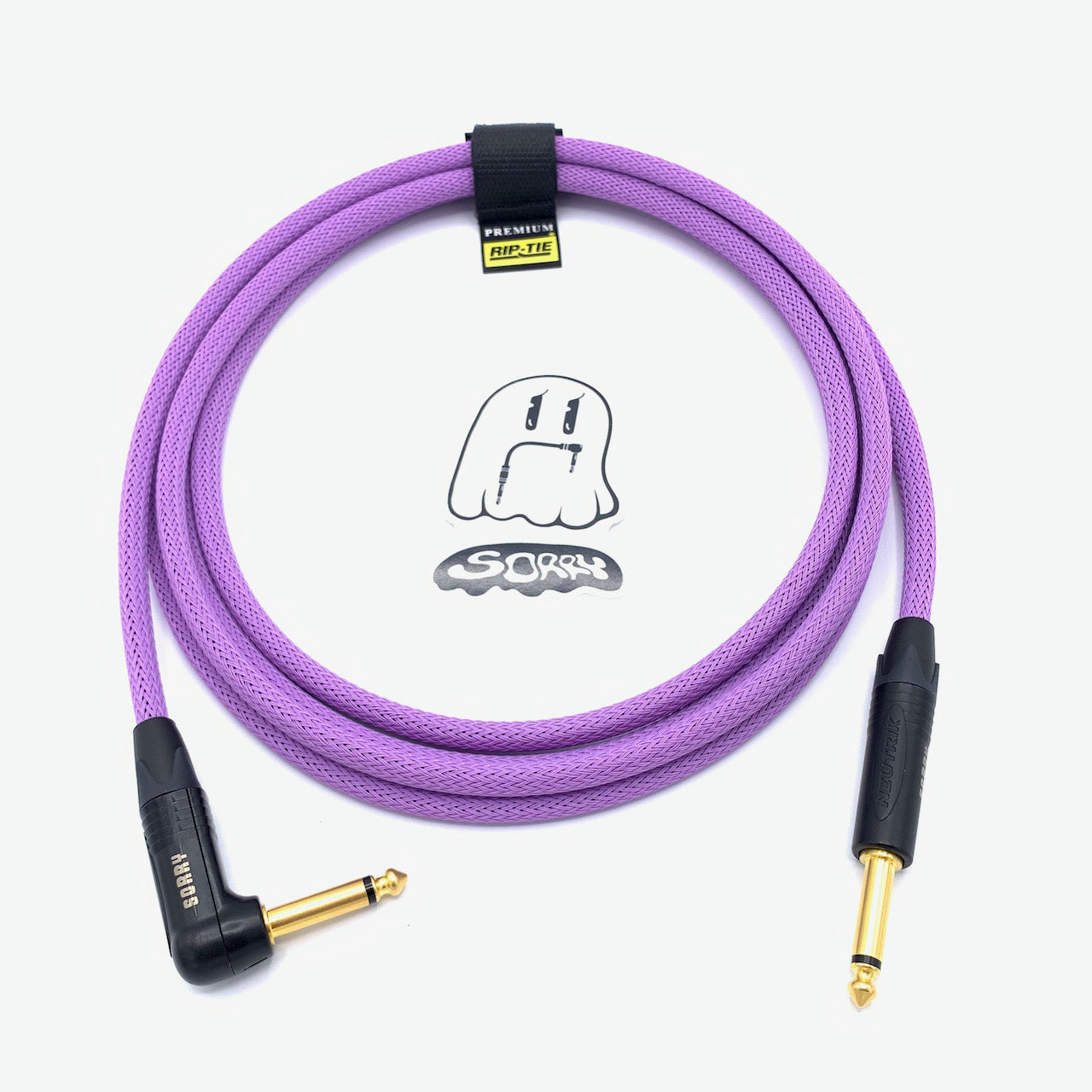 SORRY Straight to Right Angle Guitar / Instrument Cable - Lavender