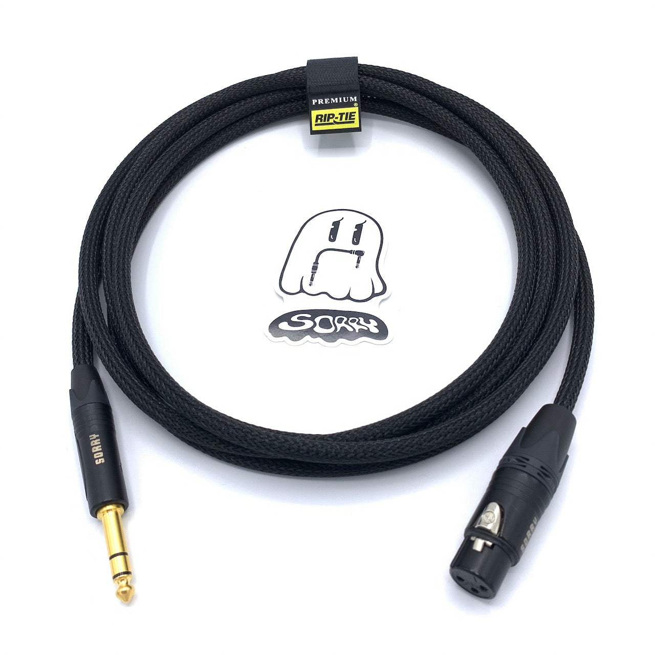 "SORRY XLR Female to 1/4"" TRS Male Cable - Black"