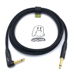 SORRY Straight to Right Angle Guitar / Instrument Cable - Black