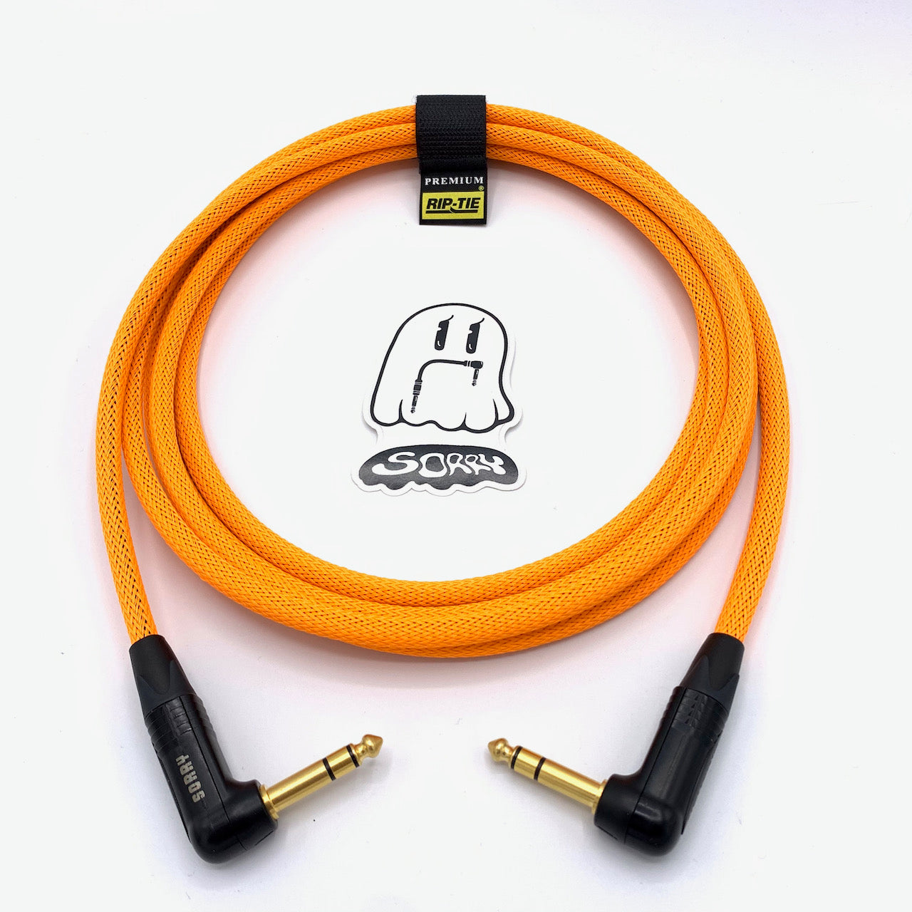 "SORRY 1/4"" Right TRS to 1/4"" Right TRS Balanced Cable - Neon Orange"