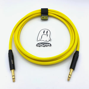 "SORRY 1/4"" TRS to 1/4"" TRS Balanced Cable - Neon Yellow"