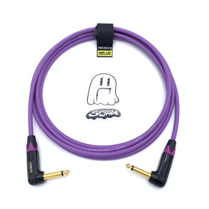 SORRY Right Angle to Right Angle Guitar / Instrument Cable - Purple