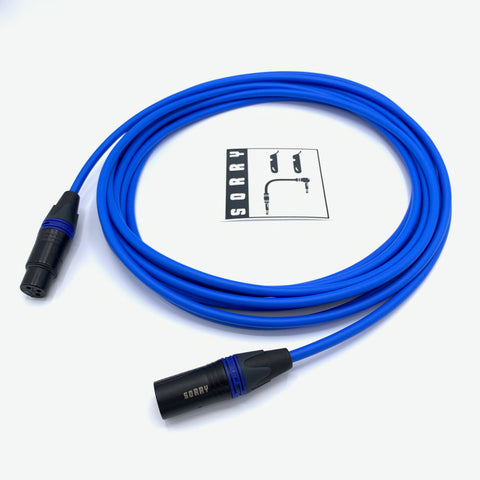 SORRY Microphone Cable - Standard Blue