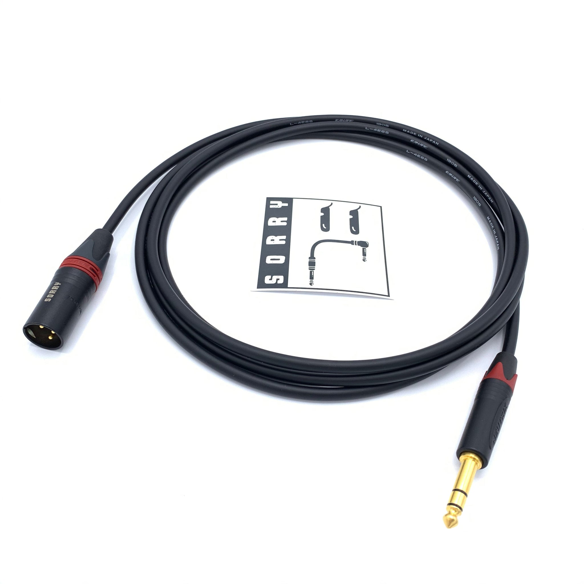 "SORRY XLR Male to 1/4"" TRS Male"
