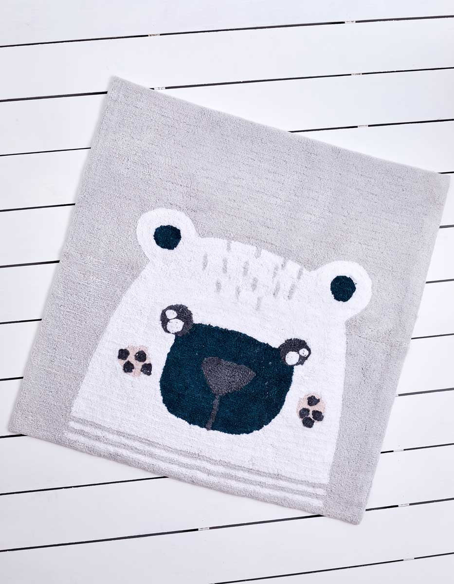Tufted Bear Floor Mat