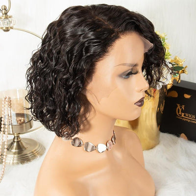 Ygwigs 13*6 deep part lace front wig wave virgin human hair